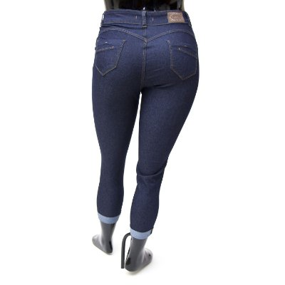 Calça Jeans Plus Size Feminina Cropped Credencial Cintura Alta