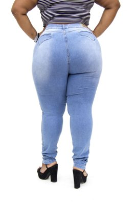 Calça Jeans Plus Size Feminina Clara Cheris Hot Pants