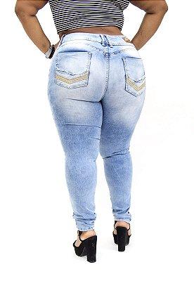 Calça Jeans Xtra Charmy Plus Size Skinny Marceni Azul