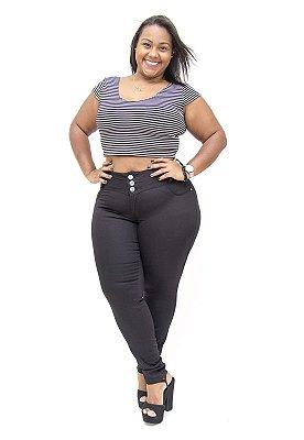 Calça Jeans Plus Size Feminina Credencial Preta Dione
