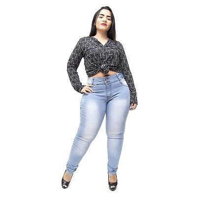 Calça Jeans Helix Plus Size Skinny Vera Azul