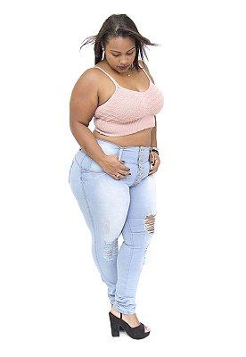 Calça Jeans Plus Size Feminina Clara Thomix Mara