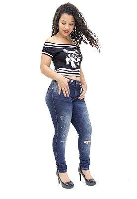 Calça Jeans Feminina Rasgadinha Deerf Cleonice