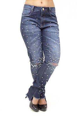 Calça Jeans Consciência Boyfriend Jovana Azul