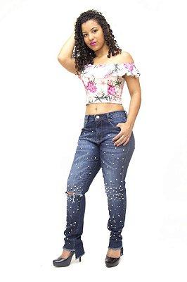 Calça Jeans Feminina Premium Boyfriend Consciência Jovana