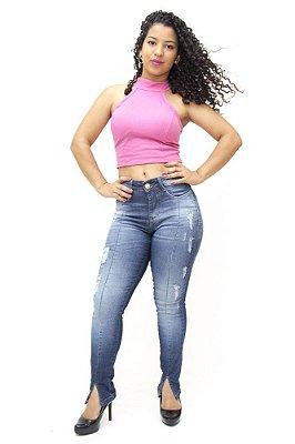 Calça Jeans Feminina Rasgadinha Consciência Glaucie