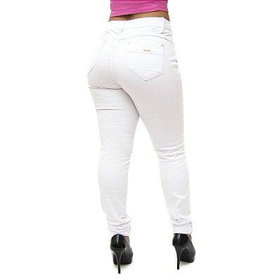 Calça Jeans Consciência Skinny Ticyane Branca
