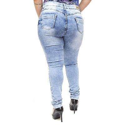 Calça Jeans Plus Size Manchada Cintura Alta Thomix Ariadina