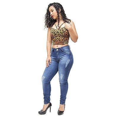Calça Jeans Feminina Azul Cheris Catrine
