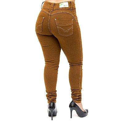 Calça Jeans Feminina Marom Cheris Jullie