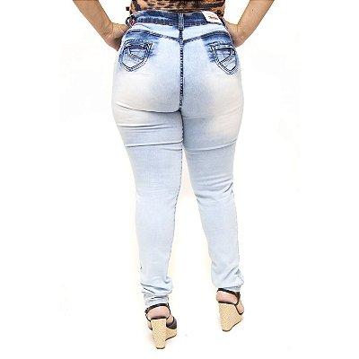 Calça Jeans Plus Size Clara Cintura Alta Credencial Ivalda