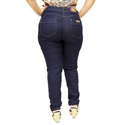 Calça Jeans Plus Size Escura Cintura Alta MC2 Alcina