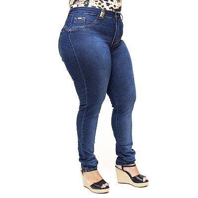 Calça Jeans Plus Size Azul Cintura Alta MC2 Stefhanie