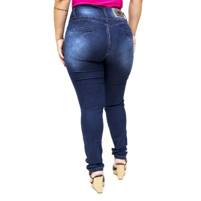 Calça Jeans Thomix Plus Size Skinny Nadija Azul