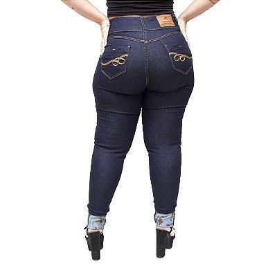 Calça Jeans Credencial Plus Size Skinny Laiz Azul