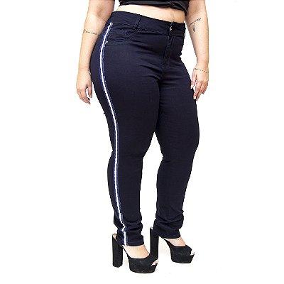 Calça Jeans Credencial Plus Size Skinny Emanuele Azul