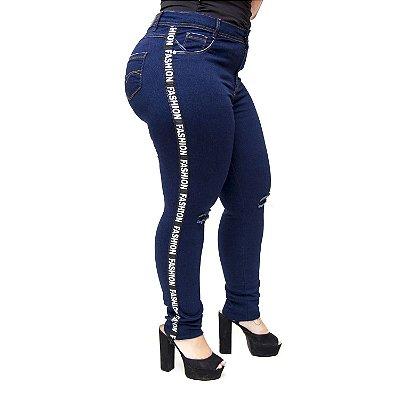Calça Jeans Credencial Plus Size Skinny Nadieg Azul