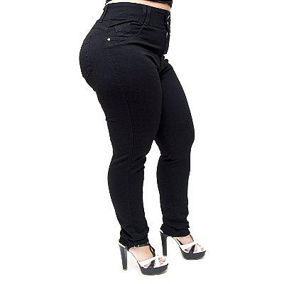 Calça Jeans Wesen Plus Size Skinny Cassiane Preta