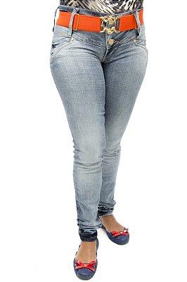 Calça Jeans Feminina R.I.19 com Cinto