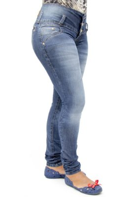 Calça Jeans Feminina R.I.19 Modelo Legging Tradicional