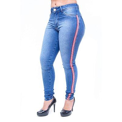 Calça Jeans Feminina Hevox Skinny Lydia Azul