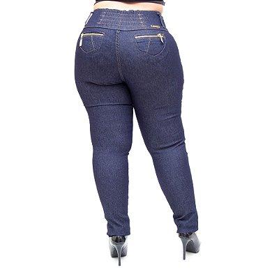 Calça Jeans Helix Plus Size Skinny Teiciane Azul