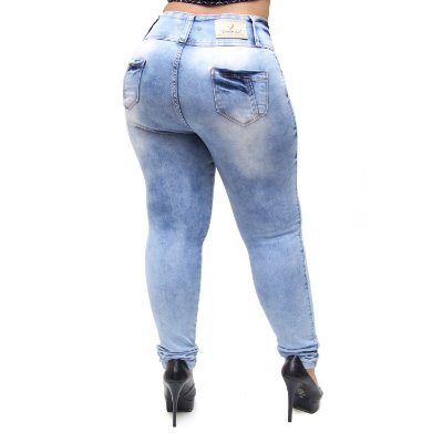 Calça Jeans Credencial Plus Size Skinny Arianny Azul