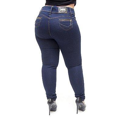 Calça Jeans Credencial Plus Size Skinny Janayne Azul