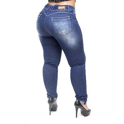 Calça Jeans Xtra Charmy Plus Size Skinny Josineia Azul