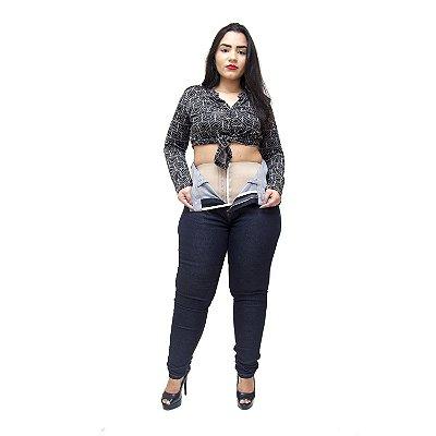 Calça Jeans Xtra Charmy Plus Size com Cinta Skinny Laissa Azul
