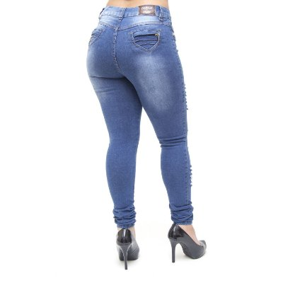 Calça Jeans Feminina Credencial Skinny Franciene Azul