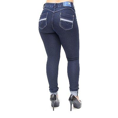 Calça Jeans Feminina Cheris Skinny Eveli Azul