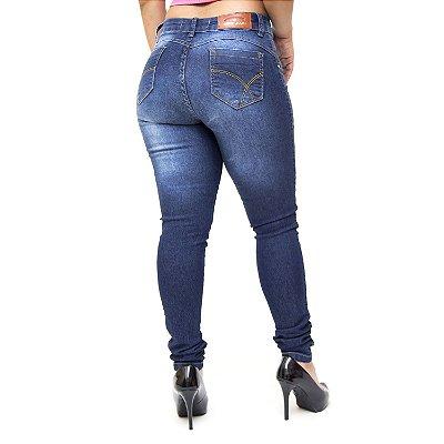 Calça Jeans Feminina Deerf Skinny Dieme Azul