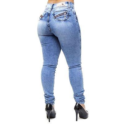 Calça Jeans Feminina Helix Skinny Lygyane Azul