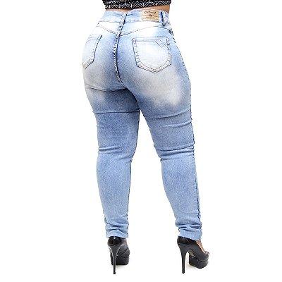 Calça Jeans Credencial Plus Size Skinny Josevane Azul