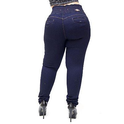 Calça Jeans Thomix Plus Size Skinny com Elástico Ana Azul