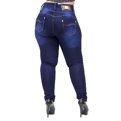 Calça Jeans Thomix Plus Size Skinny Nathany Azul