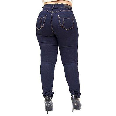Calça Jeans Credencial Plus Size Skinny Walkyria Azul