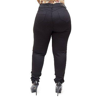 Calça Jeans Credencial Plus Size Skinny Marcileide Preta