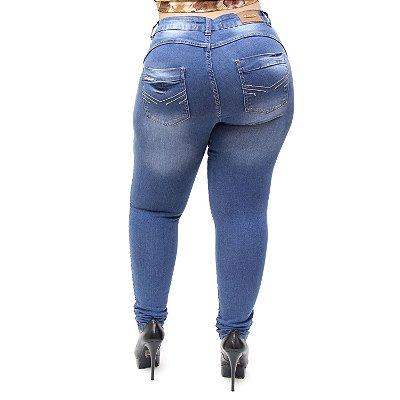 Calça Jeans Feminina MC2 Plus Size Skinny Rochele Azul