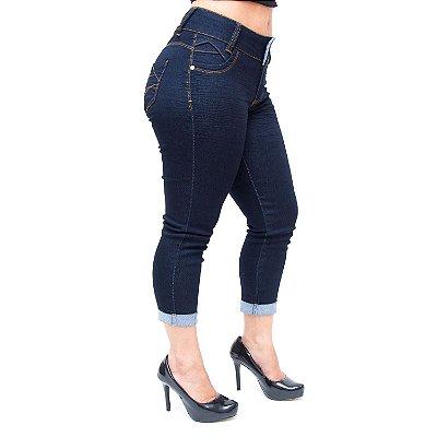 Calça Jeans Feminina Credencial Cropped Giani Azul