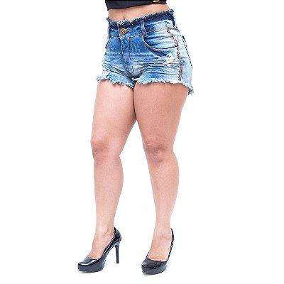 Shorts Jeans Feminino Têjota Neuse Azul
