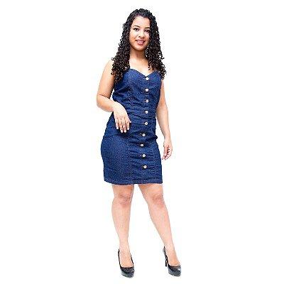 Vestido Jeans Salopete Feminino Cambos Sailane Azul