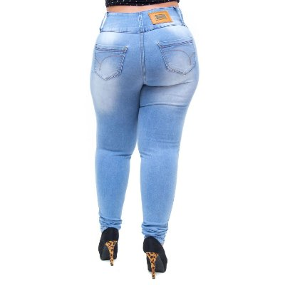 Calça Jeans Credencial Plus Size Skinny Lohanny Azul