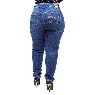 Calça Jeans Bokker Plus Size Skinny Cristhina Azul