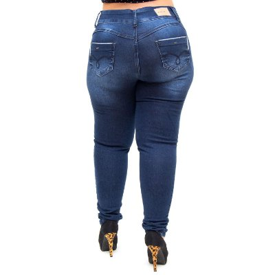 Calça Jeans Credencial Plus Size Skinny Ariely Azul