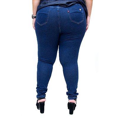 Calça Jeans Feminina Cambos Plus Size Skinny Katyane Azul