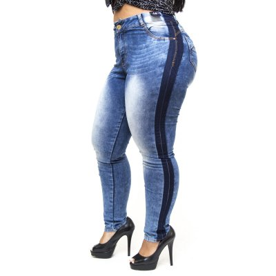 Calça Jeans Credencial Plus Size Skinny Vanecy Azul