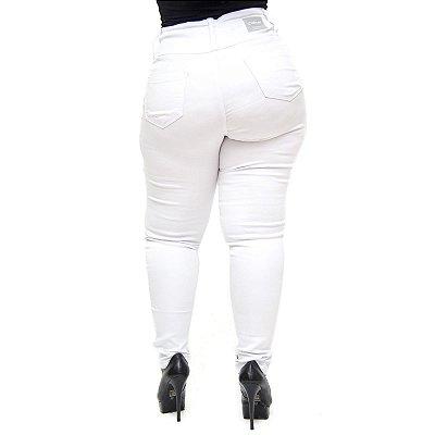 Calça Jeans Credencial Plus Size Skinny Tycillia Branca