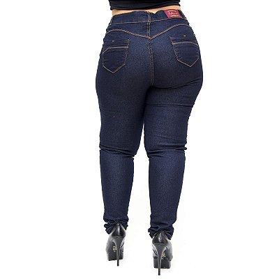 Calça Jeans Credencial Plus Size Skinny Claudeci Azul